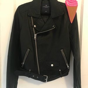 American Eagle leather jacket large